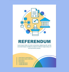 Referendum brochure template layout holding vector
