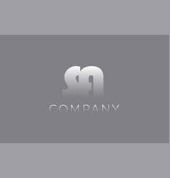 Sa s a pastel blue letter combination logo icon vector
