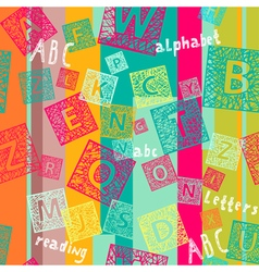 Seamless ABC lines vector image