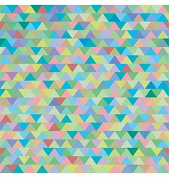 Seamless colorful zig zag triangle pattern vector
