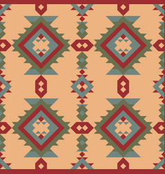 Seamless ethnic pattern with american indian vector