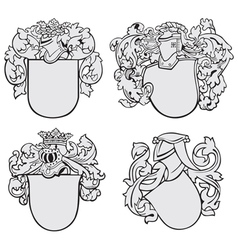 set aristocratic emblems no2 vector image