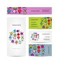 Set of business cards design sport concept design vector image