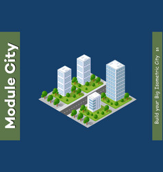 Set urban areas modules vector