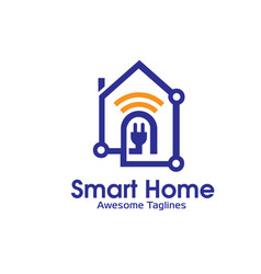 Smart home logo vector
