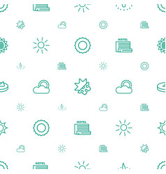 Sunny icons pattern seamless white background vector