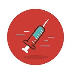 Syringe flat icon Medical vector image