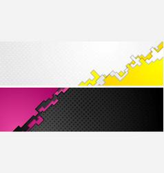 tech geometry web headers banners vector image