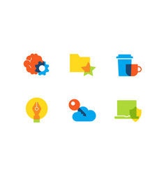 technology and management - flat design style vector image