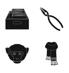 training animal and other web icon in black style vector image
