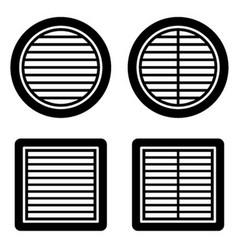 ventilation grille black symbol vector image