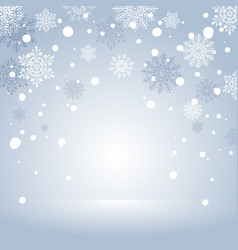 winter holiday snow background for banner vector image