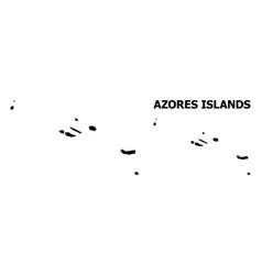 Wire frame map azores islands vector