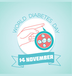 world diabetes day 14 november vector image