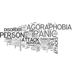 agoraphobia text word cloud concept vector image vector image
