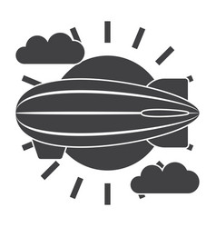 airship icon vector image vector image
