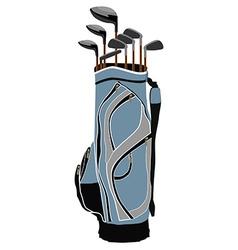Golf clubs bag vector image