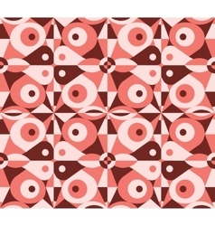 Abstract red geometrical seamless pattern vector image