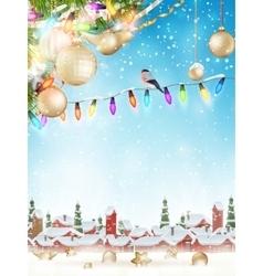 Christmas ornaments EPS 10 vector image