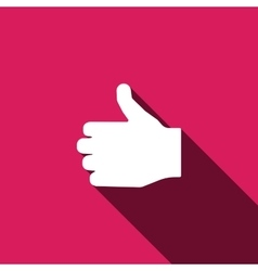 Like icon Hand finger sign Thumb up symbol vector image