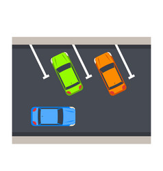 car parking vector image vector image