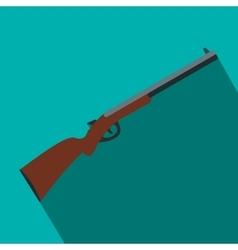 Hunting shotgun flat icon vector image vector image