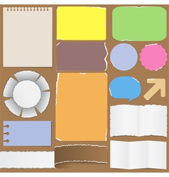 old paper objects vector image vector image