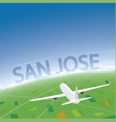 san jose flight destination vector image vector image