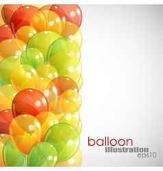 Abstract background with multicolored transparent vector