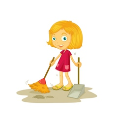 Cleaning vector image vector image