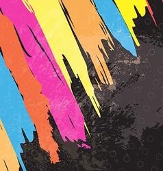 color paint stripe background design vector image vector image