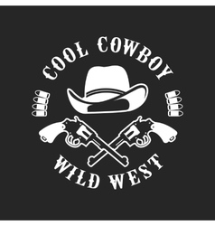Cowboys emblem on a white background vector image vector image