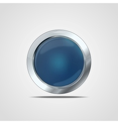 Glass button vector image vector image