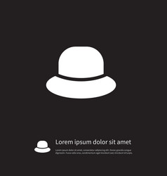 isolated cap icon trilby element can be vector image