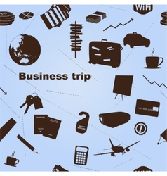 Seamless business trip pattern vector image