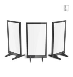 set of simple outdoor indoor stander advertising vector image vector image
