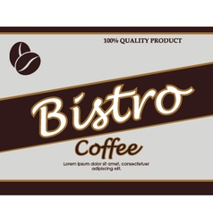 vintage template design for coffee bar vector image vector image