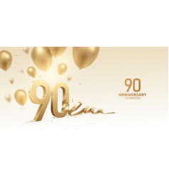 90th anniversary celebration background vector
