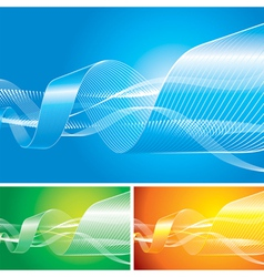 Abstract flowing background vector