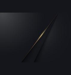 abstract modern luxury minimal black paper cut vector image