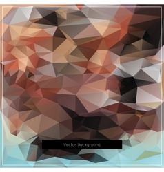 Abstract polygonal background pattern vector image