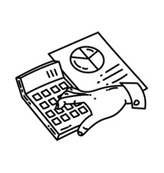 accounting icon doodle hand drawn or outline icon vector image