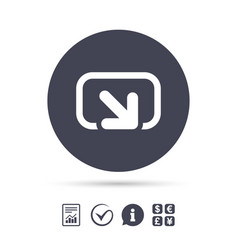 Action sign icon share symbol vector