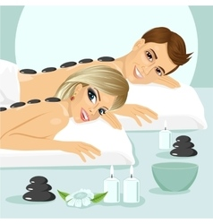 attractive young couple on a spa vector image