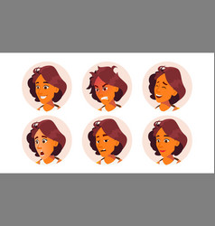 avatar woman facial emotions icon vector image