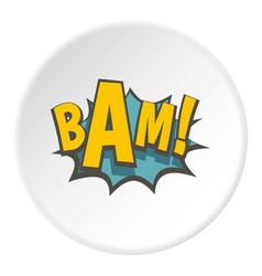 Bam comic book explosion icon circle vector