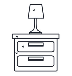 bedroom lamp in drawer isolated icon vector image