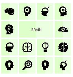 Brain icons vector