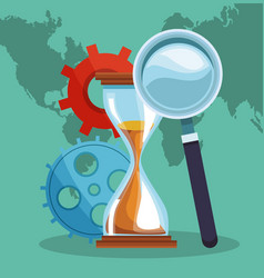 business around world vector image