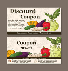 cafe discount voucher for your business modern vector image